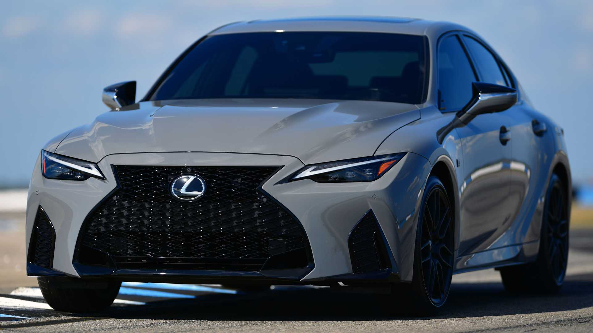 Lexus IS 500 F Sport Performance Launch Edition On Track Three Quarters