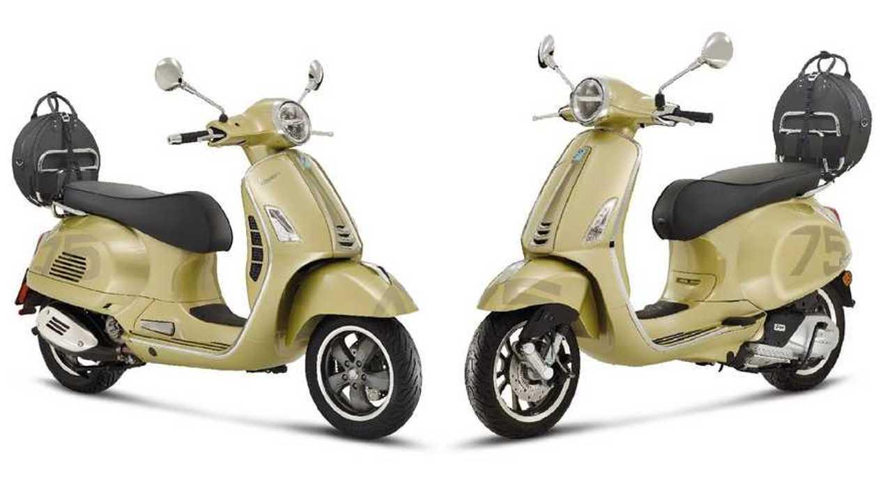 Dua varian Vespa untuk perayaan edisi ke-75 tahun.