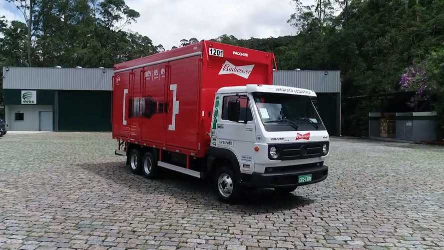 Rumo à eletrificação, Ambev converte 100 caminhões a diesel em elétricos