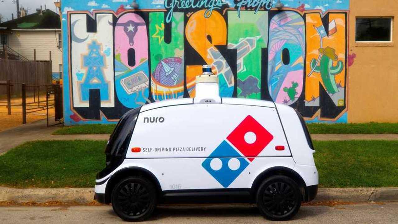 Nuro R2, robot pengirim pizza di Texas dari Domino's Pizza.