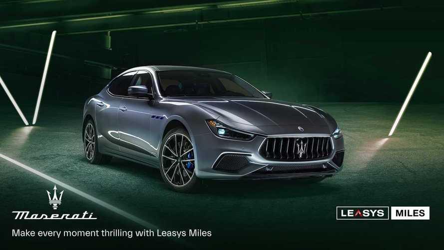Maserati Ghibli e Levante disponibili col noleggio Leasys Miles