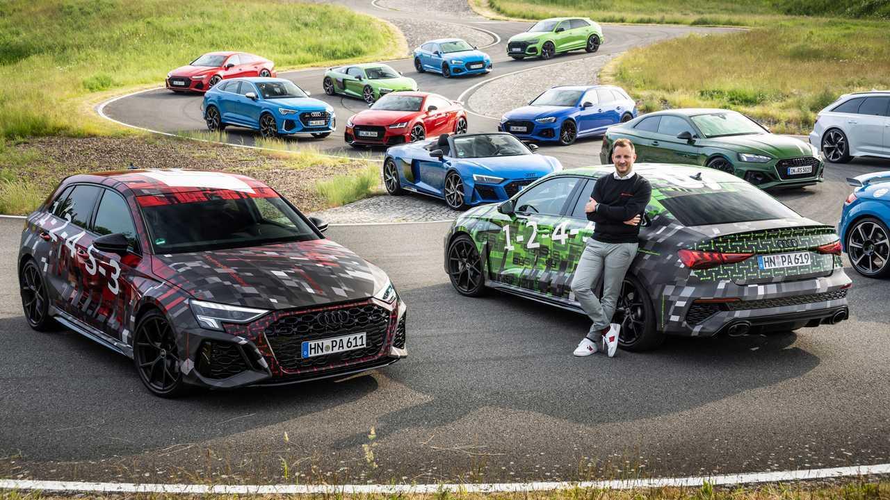2022 Audi RS3 Sportback and RS3 Sedan teaser