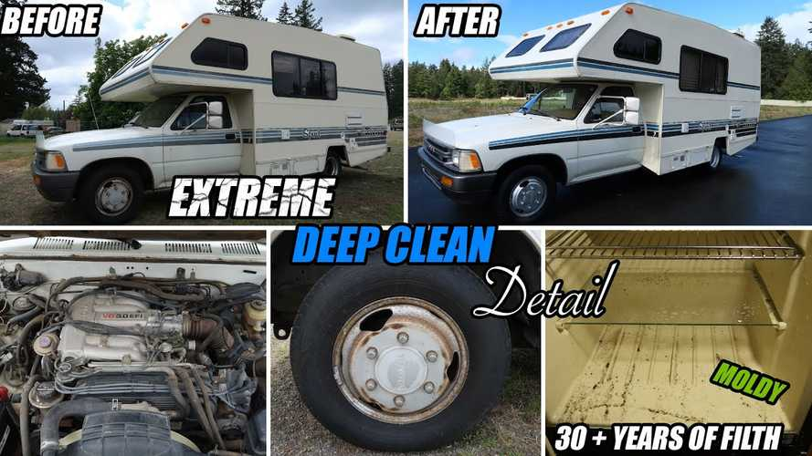 Old Toyota motorhome gets new life after intense detailing session