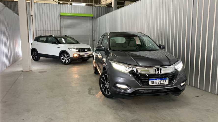 Comparativo: Honda HR-V Touring vs. VW T-Cross Highline