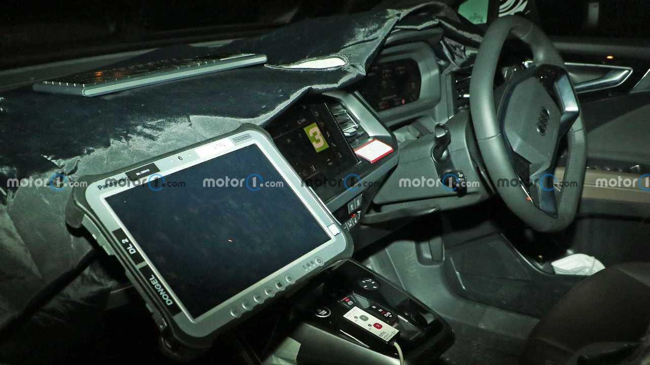 Audi Q4 E-Tron Sportback spy photos show its interior.