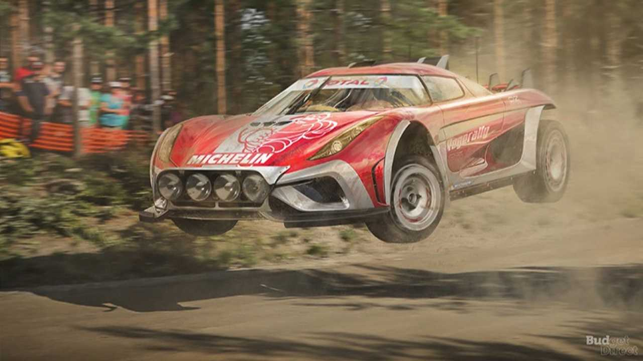 4. Koenigsegg Regera Rally Car