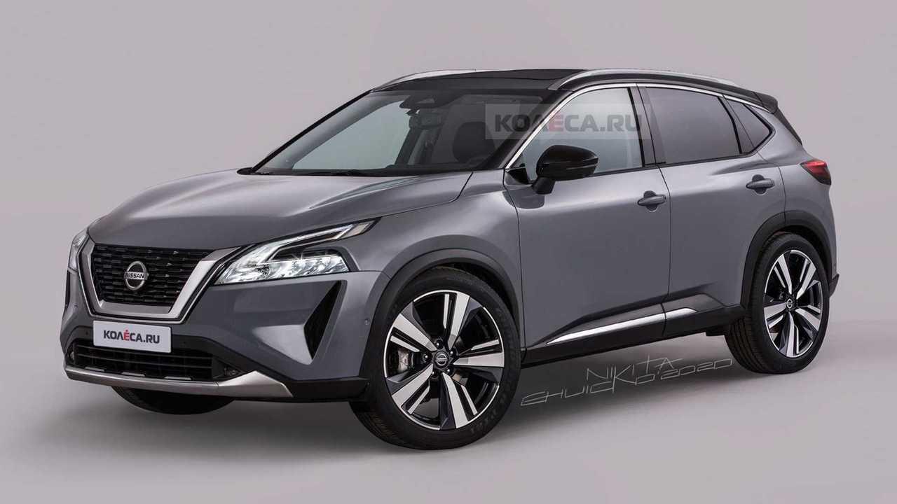 Nissan Qashqai 2021, render de Nikita Chuicko