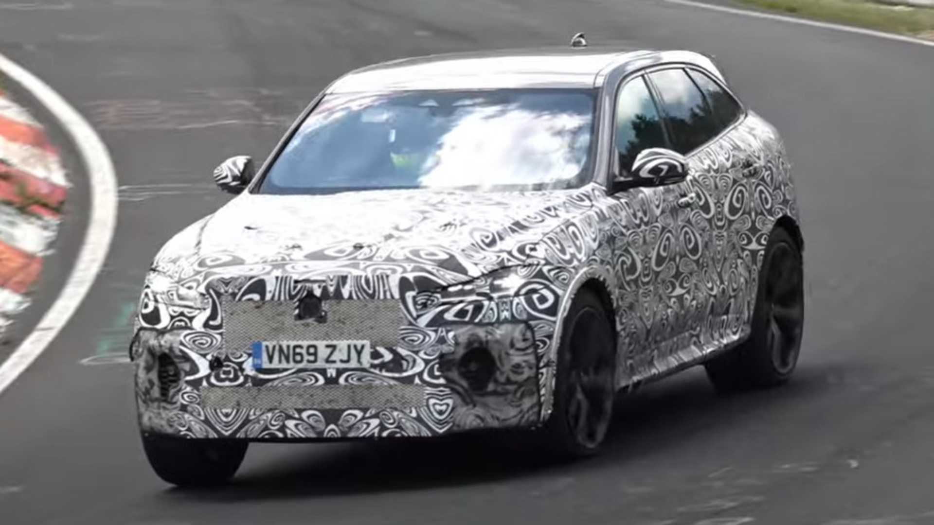 2021 jaguar fpace svr caught stretching its legs at