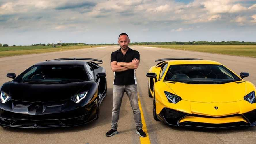 Raging bull rivalry: Lamborghini Aventador SVJ drag races SV