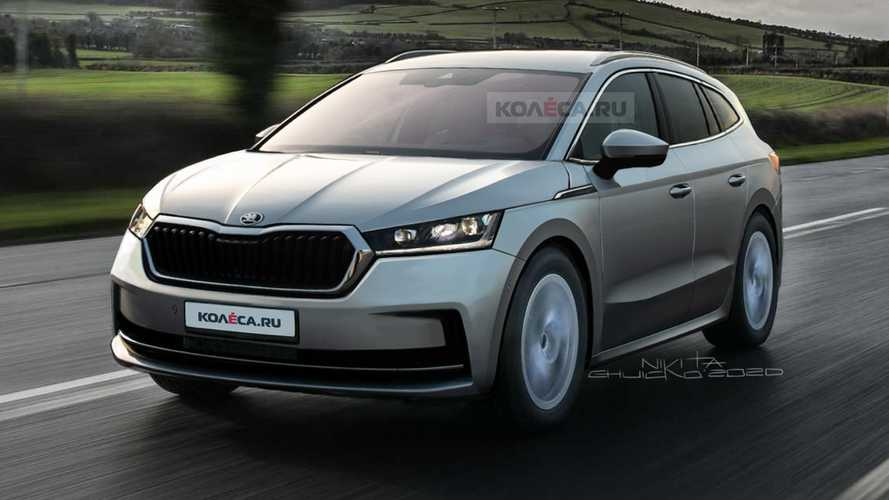 2021 Skoda Enyaq iV takes off the camo in realistic rendering