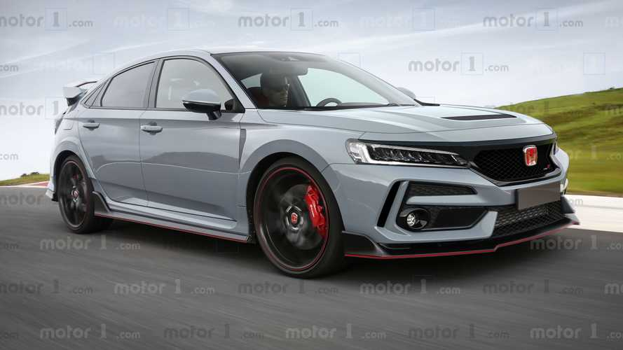 Honda Civic Type R 2020, il rendering