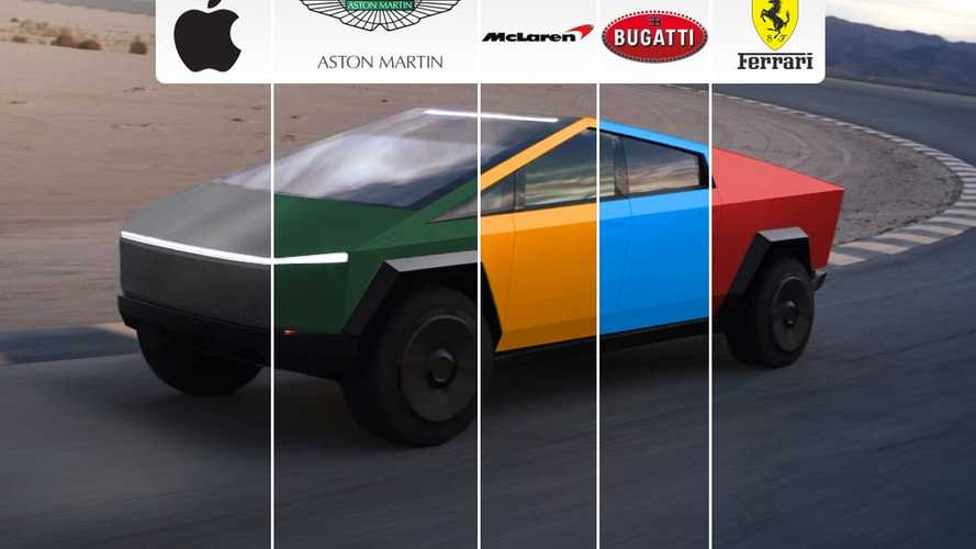 Check Out The Tesla Cybertruck In The World's Most Iconic Car Colors