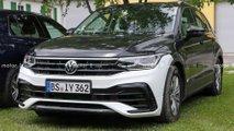 2021 VW Tiguan facelift no camouflage spy photos