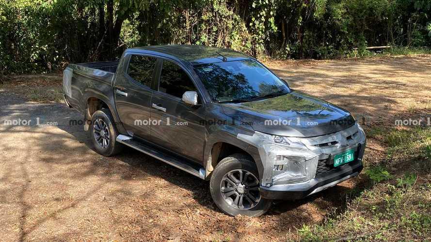 Flagra! Nova Mitsubishi L200 2021 nacional está praticamente pronta para estrear