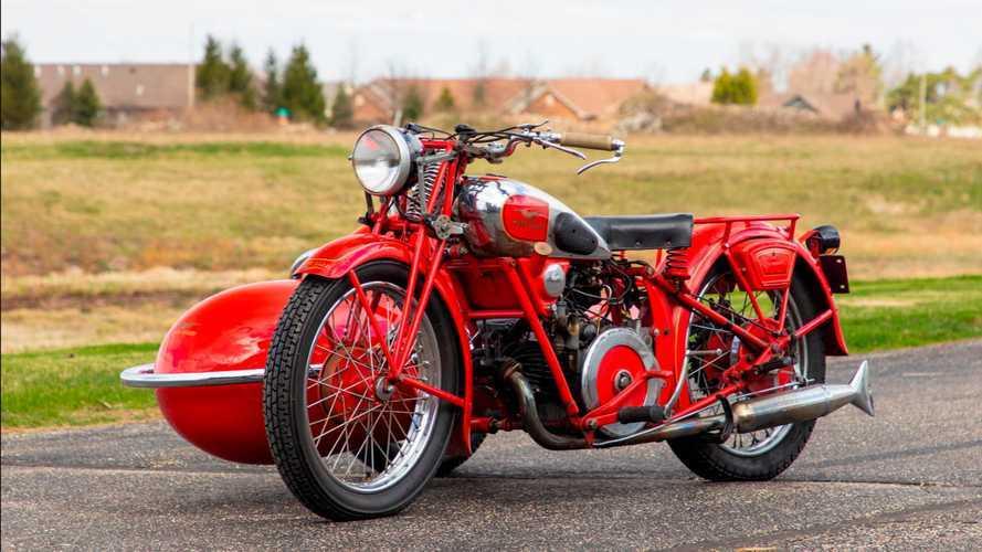 1937 Moto Guzzi GTS 500 with sidecar