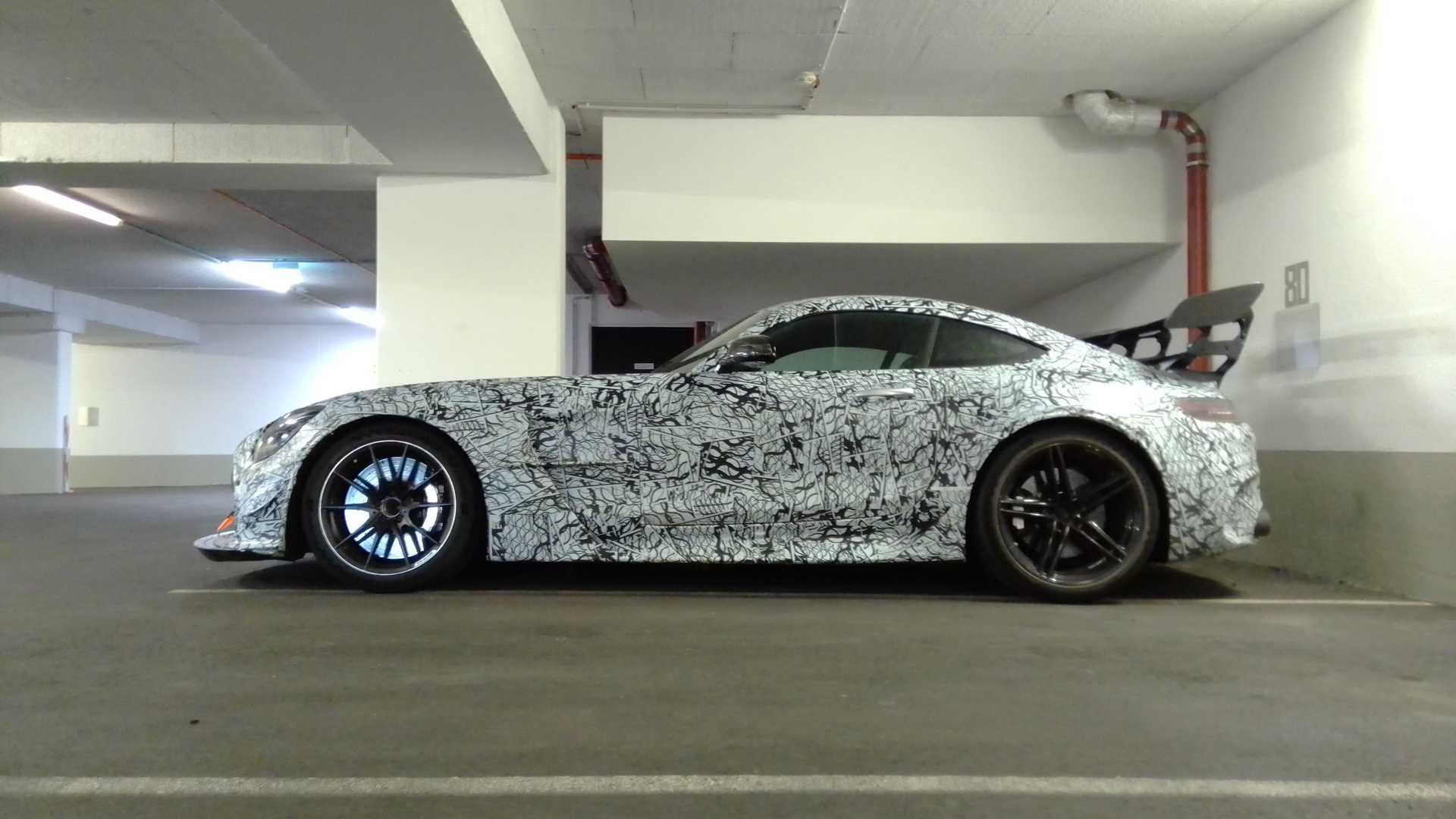 Mercedes-AMG GT Black Series camouflaged prototype