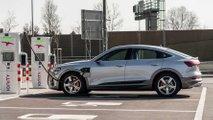 Audi e-tron Sportback 55 quattro - Charging performance