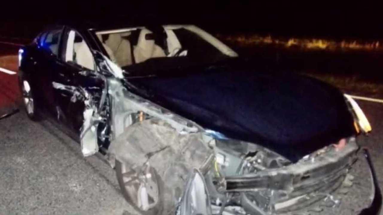 Tesla Model S baleset