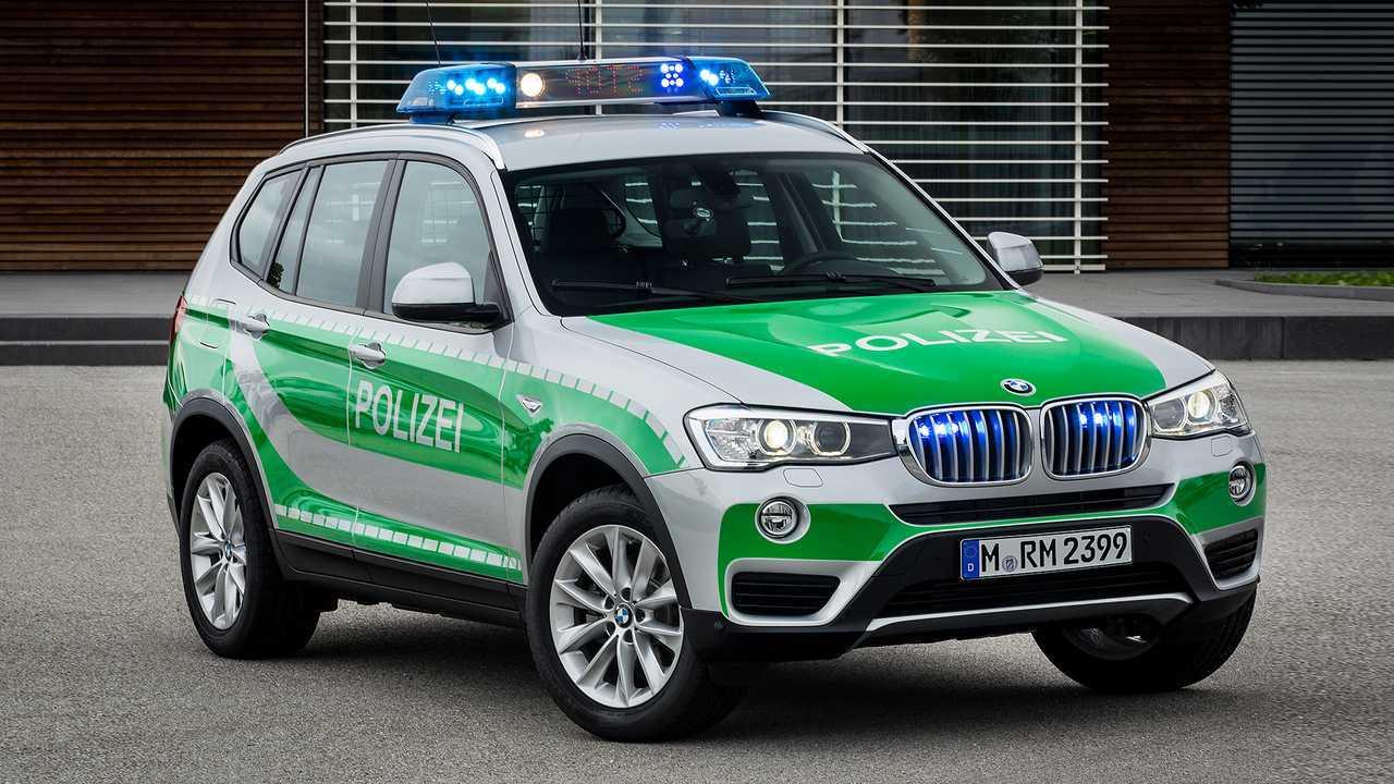 Polizeiautos in Deutschland. BMW X3