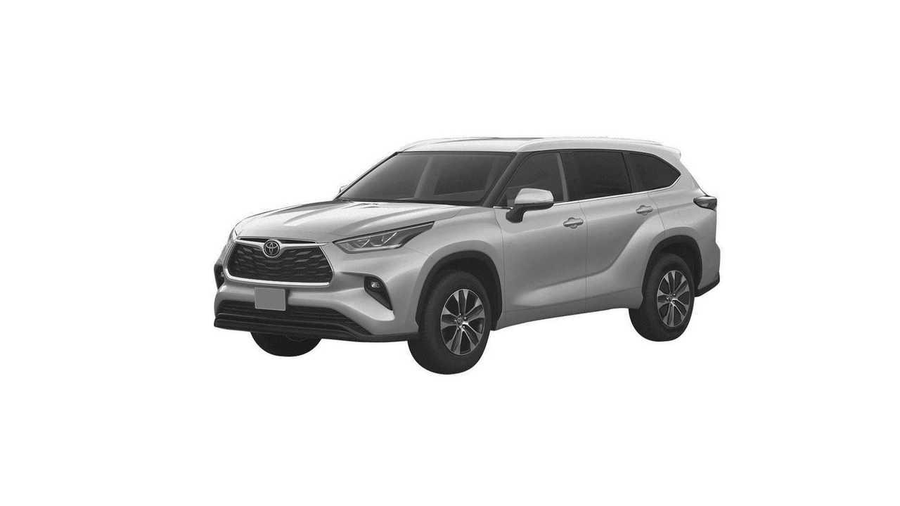 Патентное изображение Toyota Highlander для России. Вид спереди