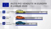 auto piu vendute europa luglio 2020 golf