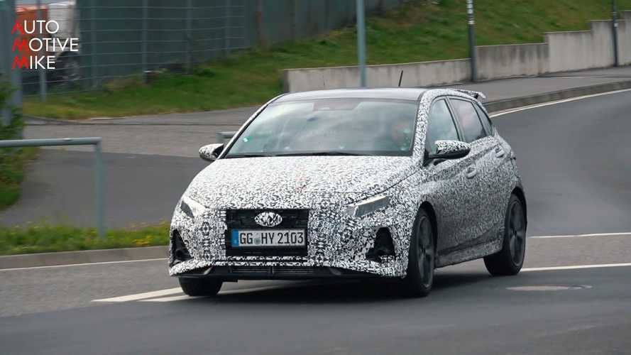 New Hyundai i20 N spied ripping around the Nurburgring