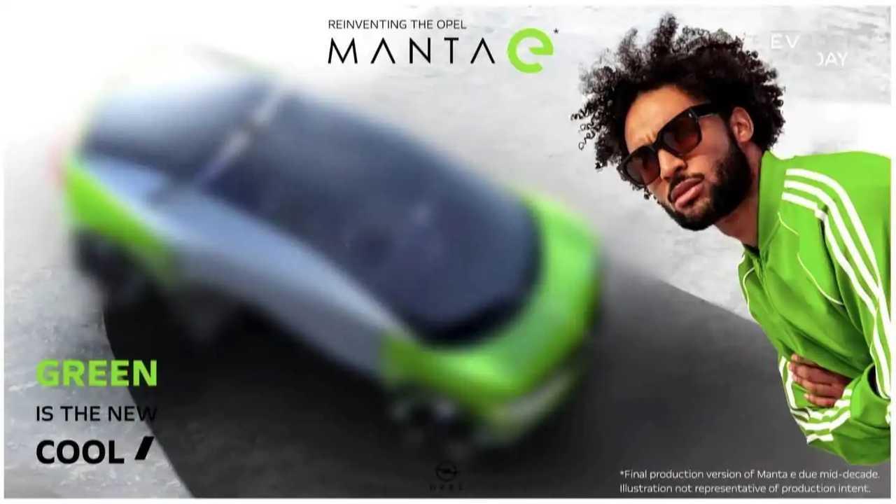 Teaser Opel Manta E