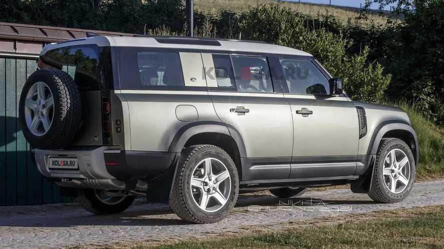 Land Rover Defender 130 renderings