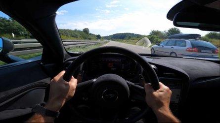 McLaren 765LT hits crowded German Autobahn for high-speed run