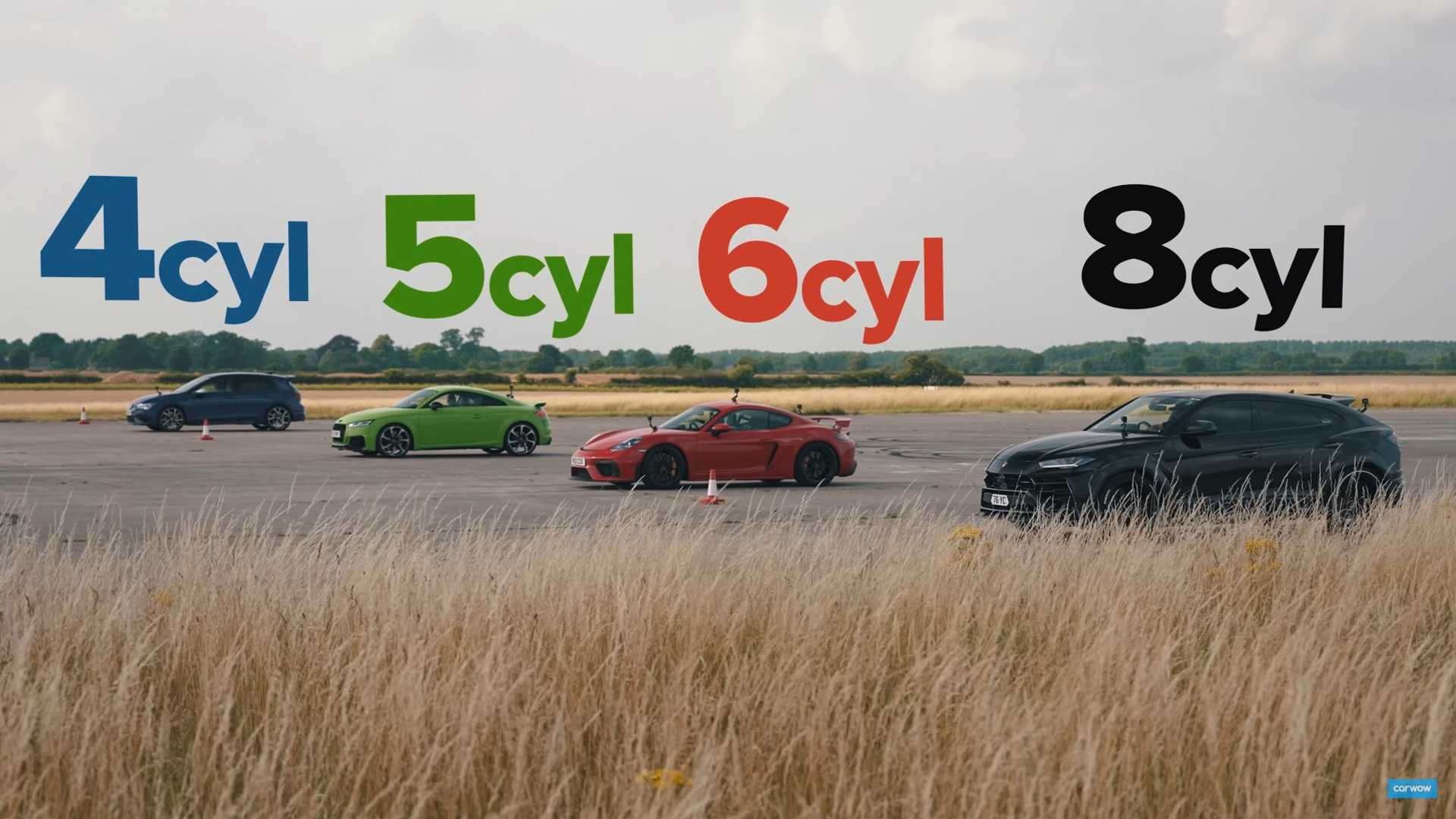 photo of Drag Race: Lamborghini Urus Audi TT-RS, Porsche Cayman GT4, VW Golf R image