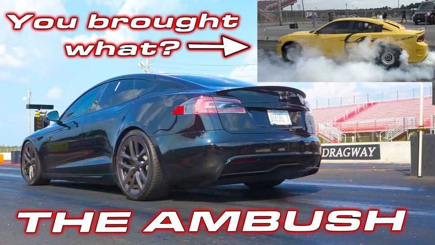 Watch Tesla Model S Plaid Do 1/4 Mile In Under 9.2s Without Seats