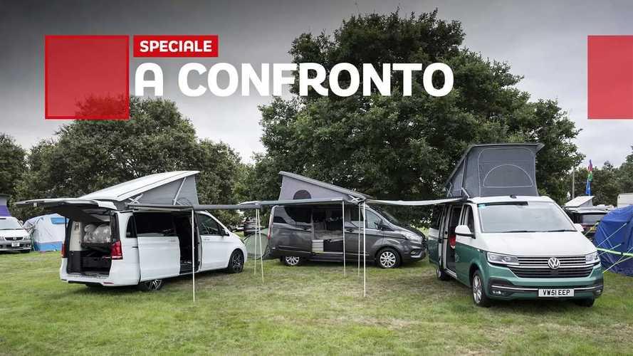 Camper van a confronto Mercedes Vs Ford Vs Volkswagen