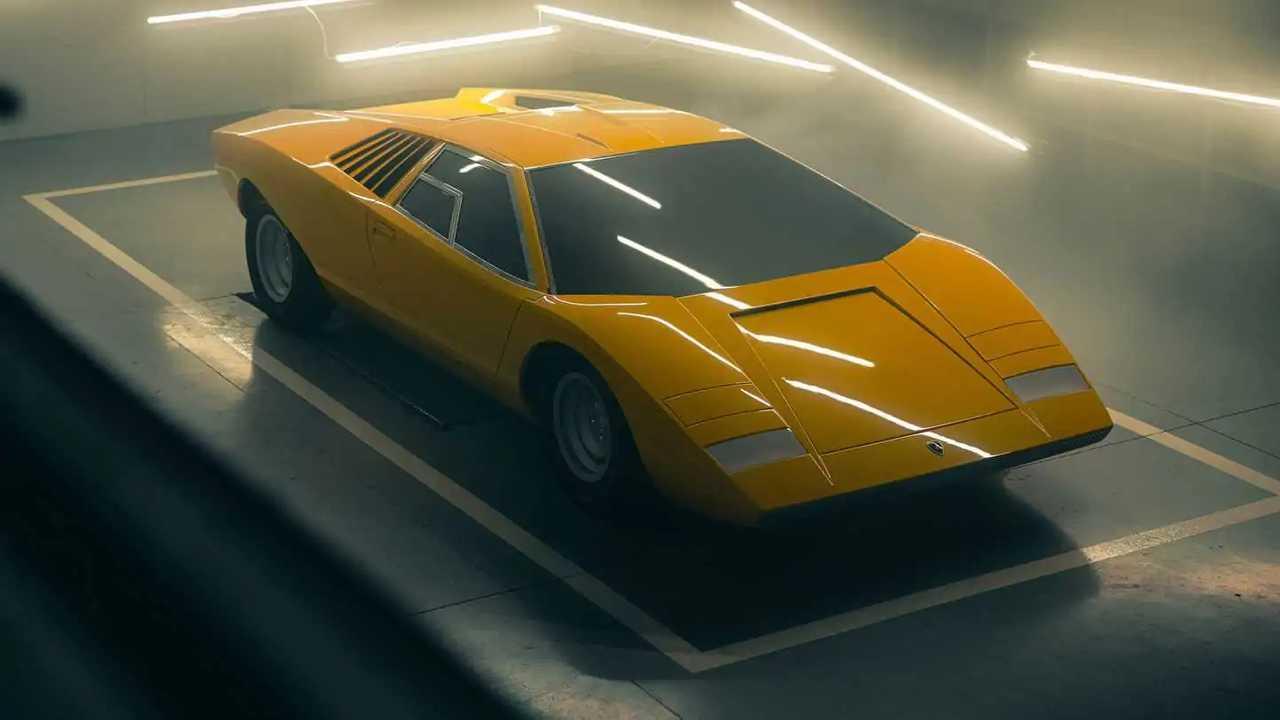 Reconstruction de la Lamborghini Countach LP 500 1971