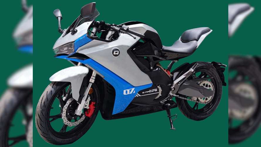 The QJ7000D Electric Sportbike On Full View In Patent Photos