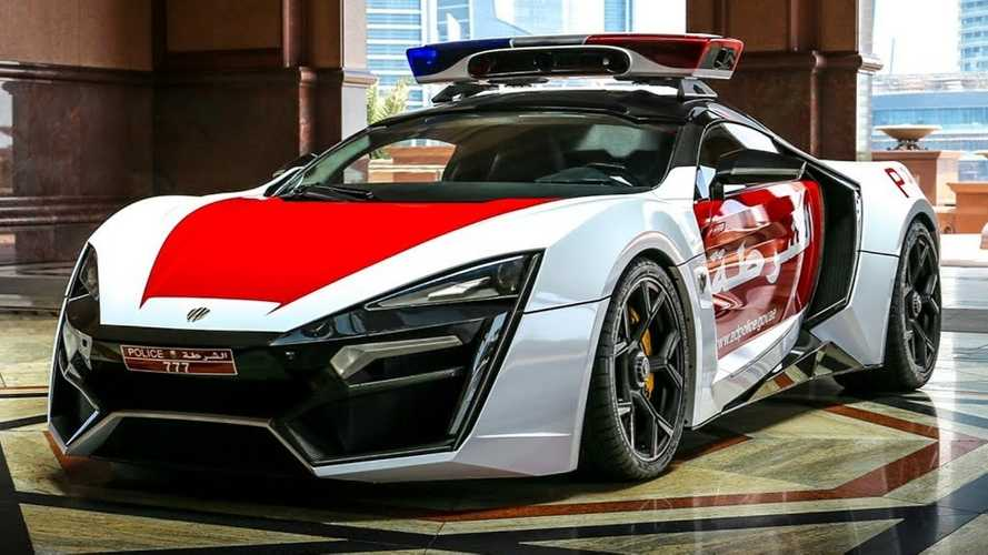 This Lykan HyperSport is not your typical police car