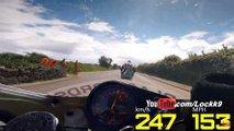 kawasaki zxr750 iomtt crazy fast lap