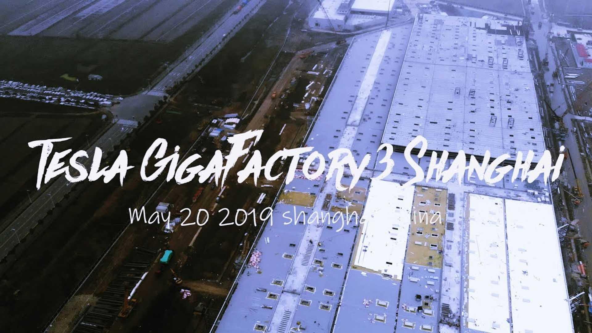 Tesla Gigafactory 3 Construction Progress May 20, 2019: Video