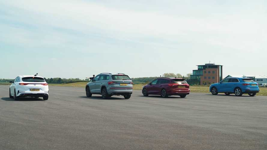 Focus Estate fights Q3, Kodiaq RS, ProCeed GT in unusual drag race