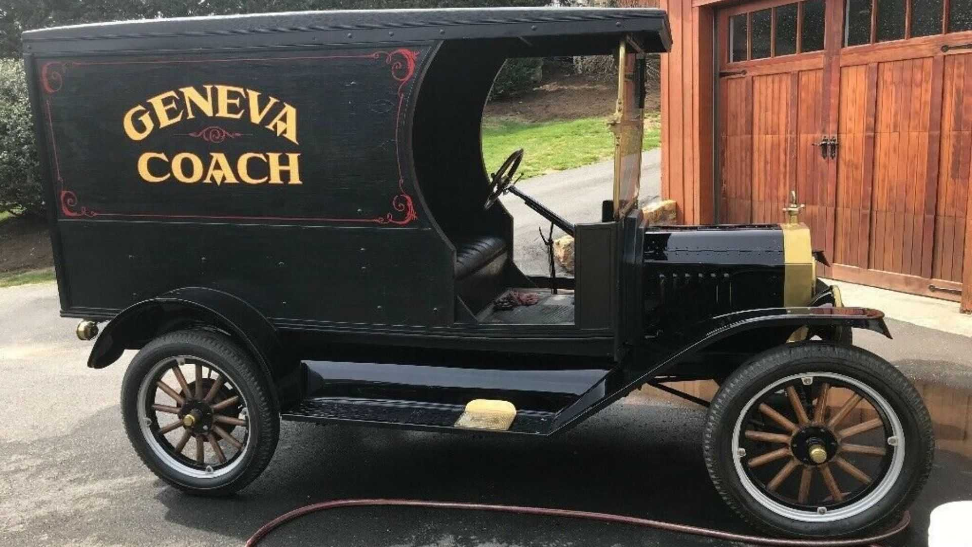 """[""""Take A Ride Through Time In This 1914 Ford Model T Geneva Coach""""]"""