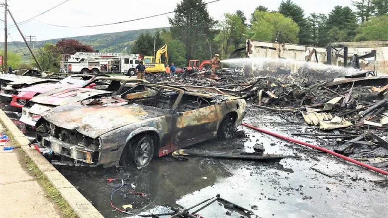 Incendie Chevrolets sur un tournage HBO