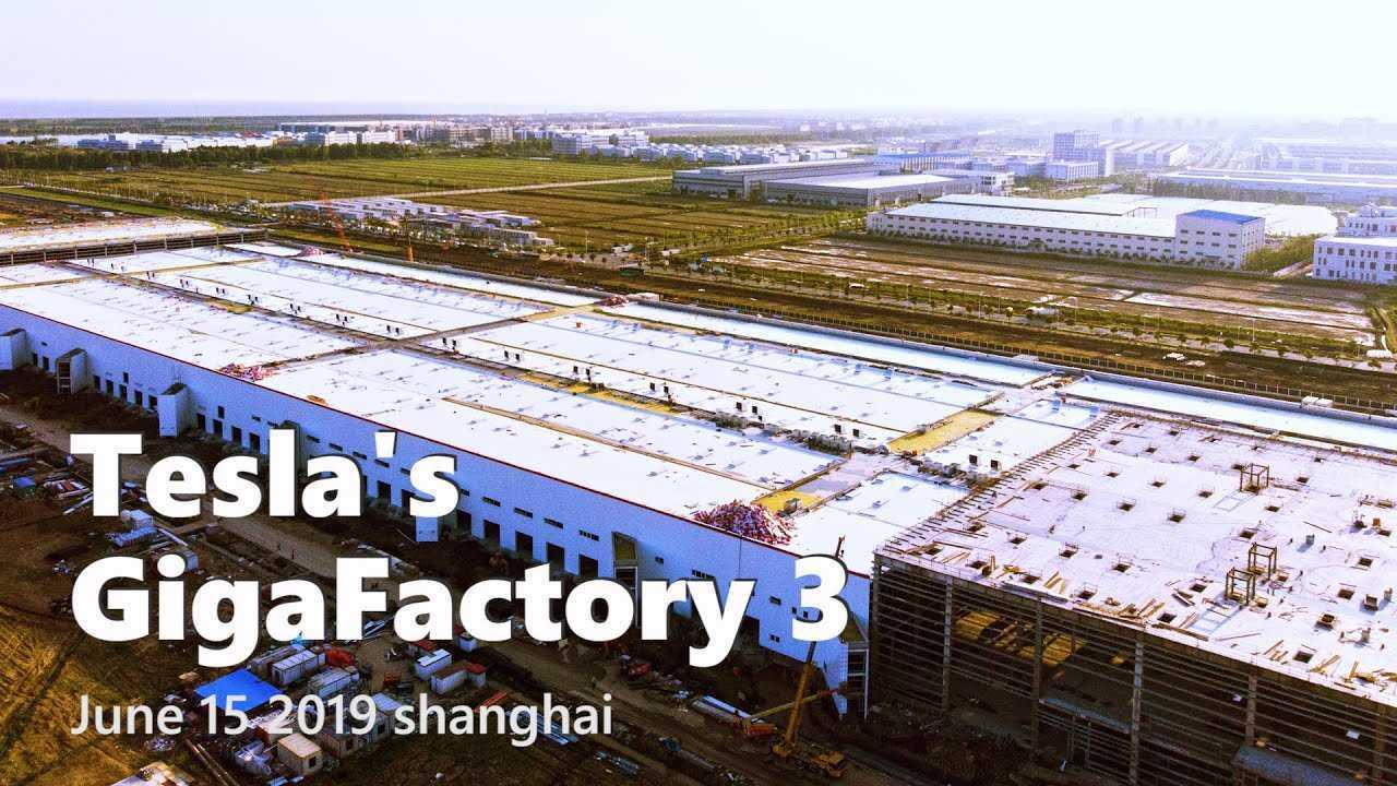 Tesla Gigafactory 3 Construction Progress June 15 2019 Video