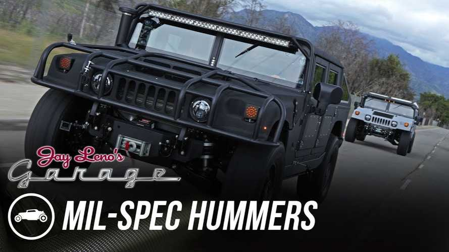 Mil-Spec Hummers Barely Fit In Jay Leno's Garage