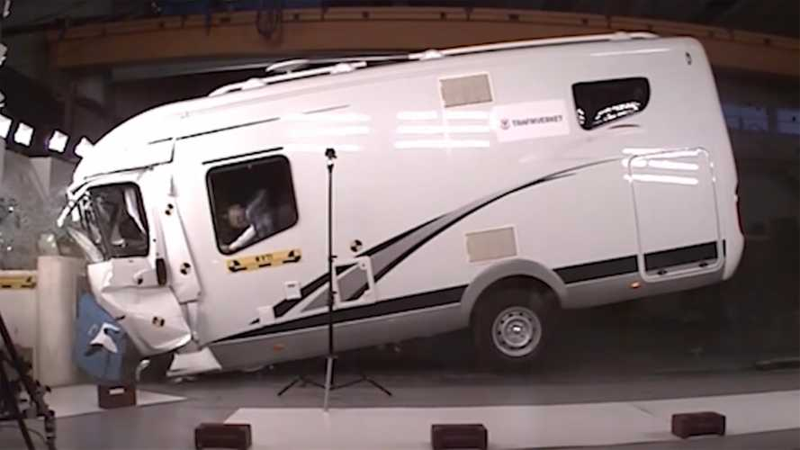 Watch motorhomes get crash tested with worrying results