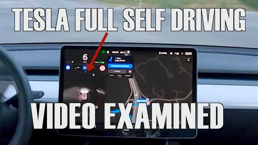 Tesla Full Self Driving Video Analyzed In Detail: Video
