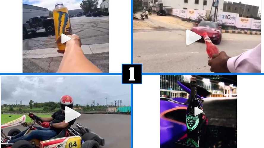 Los mejores vídeos del 'Bottle Cap Challenge', con coches