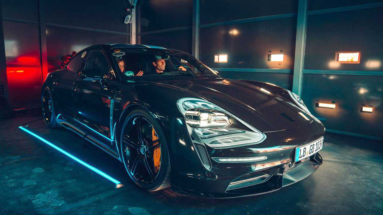 Porsche Taycan ride