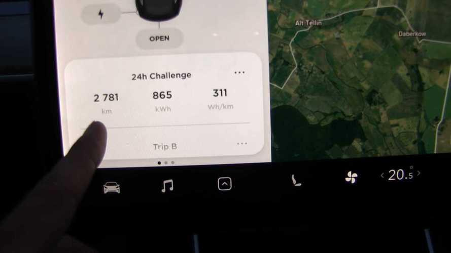 Tesla Model 3 Breaks EV Distance Record In 24-Hour Run: Video