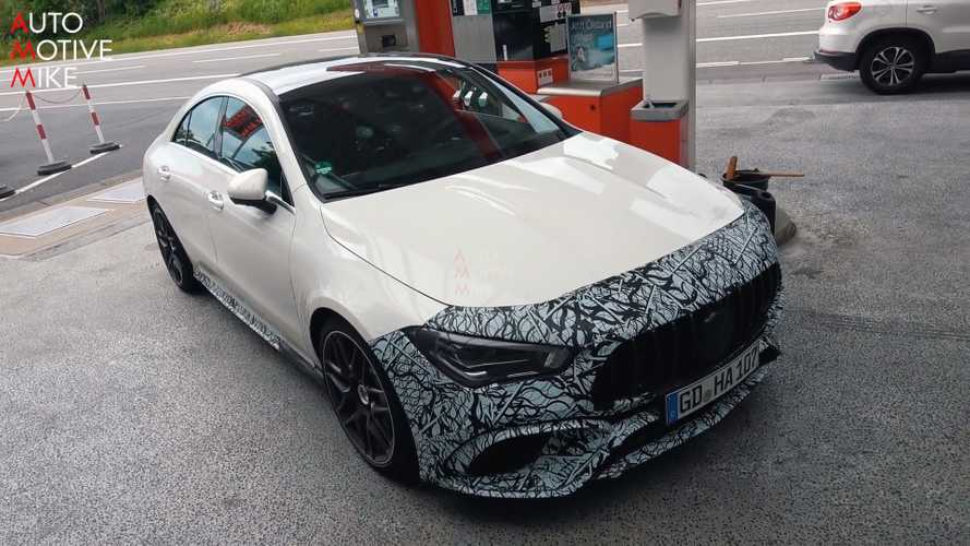 Mercedes-AMG CLA 45 Caught On Video Nearly Naked At The Nurburgring