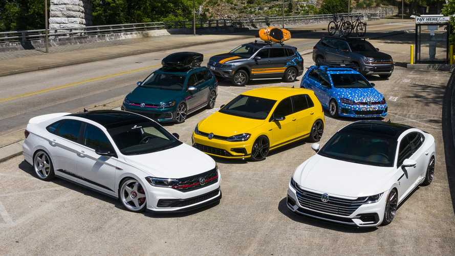 VW lineup at the 2019 SOWO: The European Experience