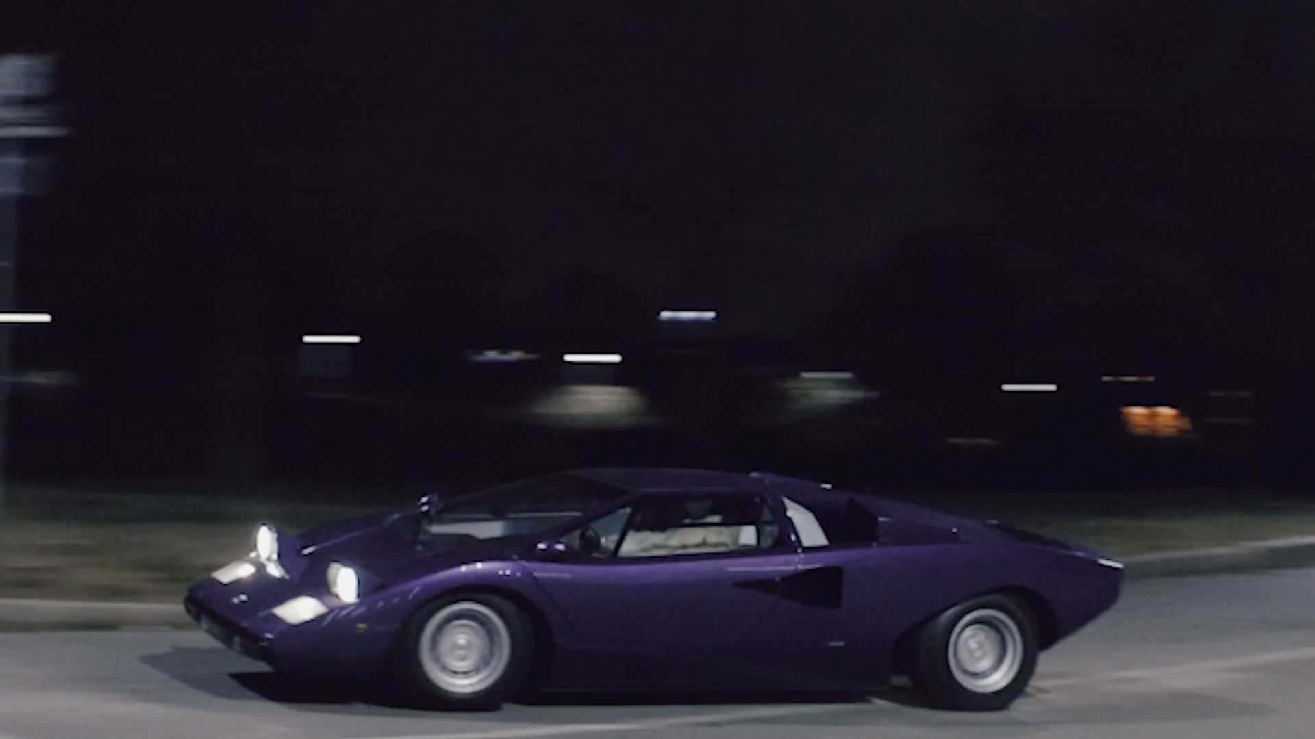 Watch This Purple Lamborghini Countach Race Into The Night Motorious